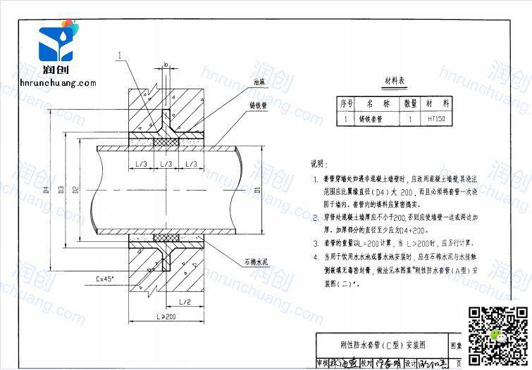 刚性防水套管设计图纸C型(图4)