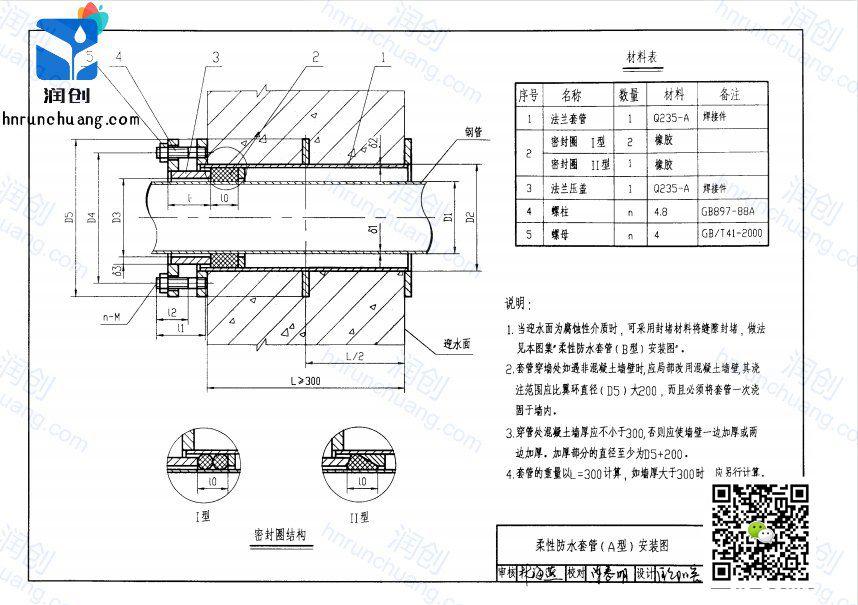 柔性防水套管d2是什么意思(图1)